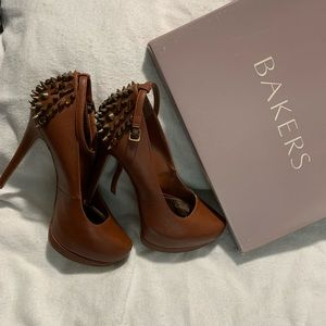 Bakers Heels with Spikes brand new